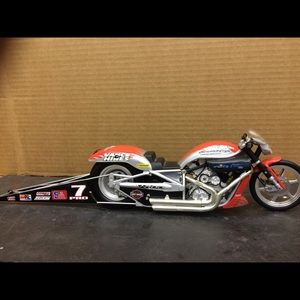 Scale model of a Screaming Eagle motorcycle